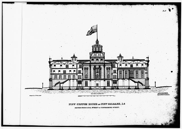 ArchitectsDrawing_GSA_NO_US Customs House 423 Canal St 1857