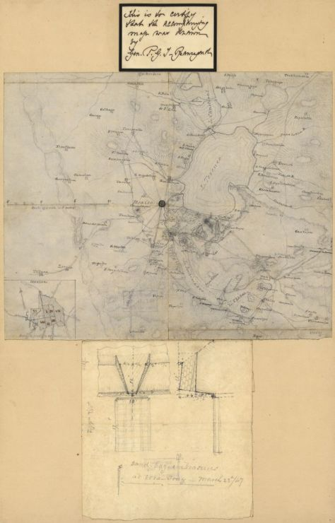 map of mexico city region gt beauregard 1847 geography and maps division library of congress