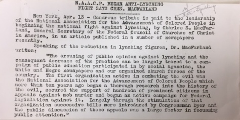 NAACP 1919 announcement