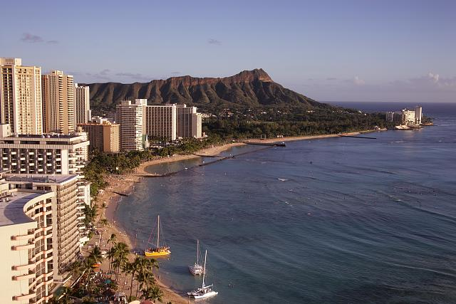 Waikiki Beach and Diamond Head, Oahu, Hawaii
