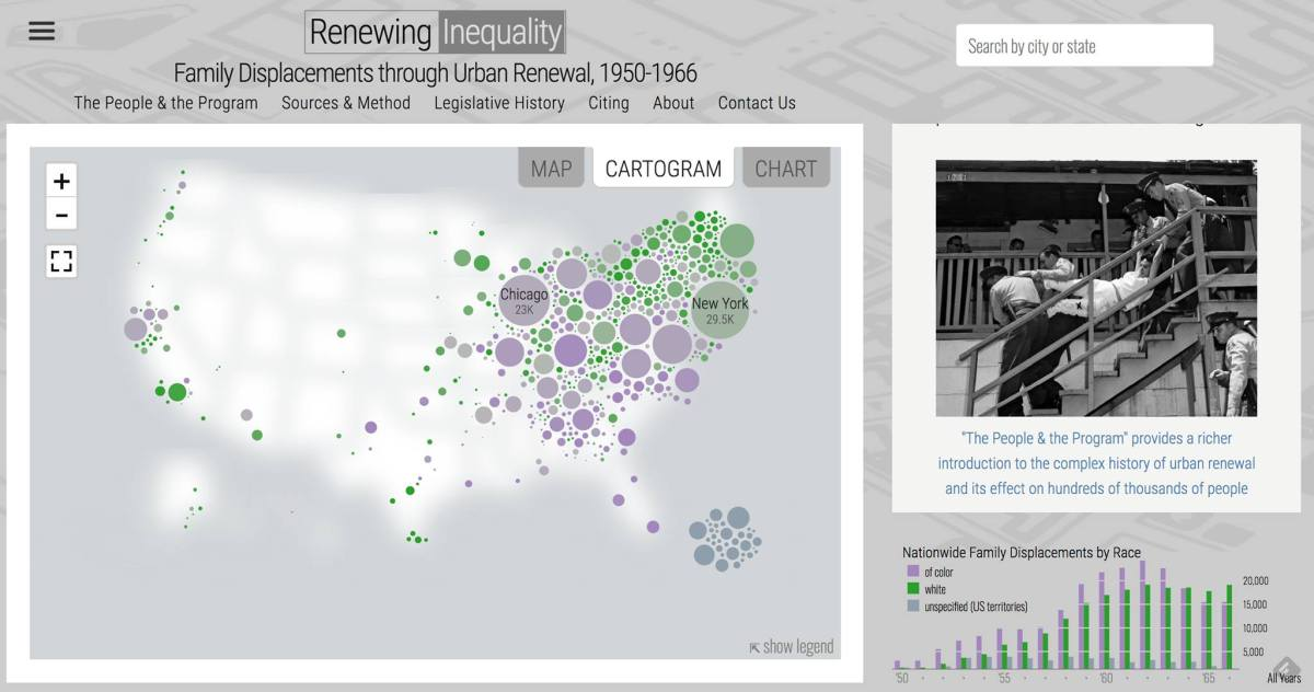 "From Redlining to Urban Renewal: University of Richmond's Digital Scholarship Lab goes from ""Mapping Inequality"" to ""Renewing Inequality"""