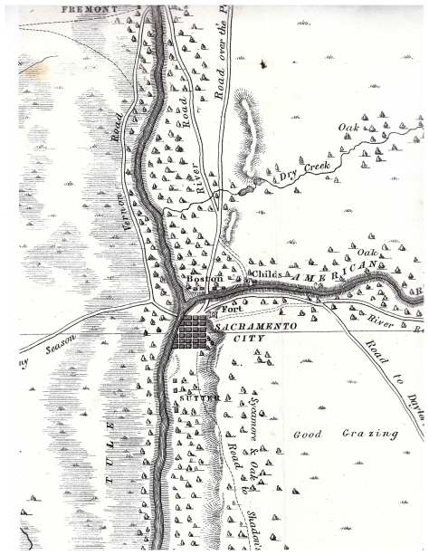 This Detail From The Sacramento Valley American River To Butte Creek Surveyed And Drawn By Order Of Gen Riley Lt Derby 1849 Shows Early
