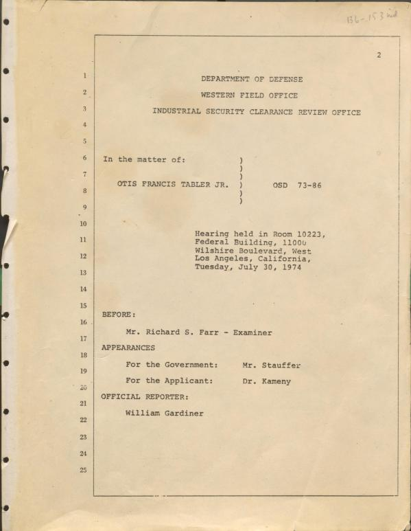 frontpage of hearing